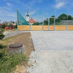 Novostavba víceúčelového hřiště ve Staré Vsi nad Ondřejnicí